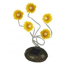 Ηλιακή λάμπα πέτρα λουλούδια