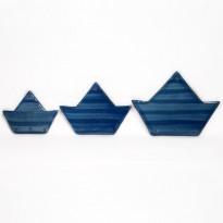 Κεραμικό καράβι γαλάζιο
