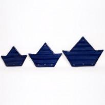 Κεραμικό καράβι μπλε