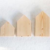 Ξύλινα σπιτάκια επίπεδα