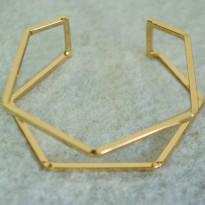 Βραχιόλι χρυσό πολύγωνο