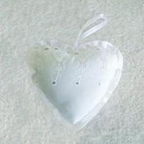 Μαξιλάρι Καρδιά με σχέδιο δαντέλα