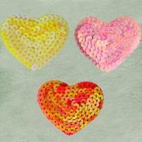 Παγιέτα καρδιά (2 τεμ.)