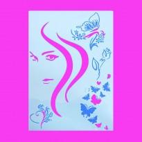 Stencil ζωγραφικής Κοπέλα