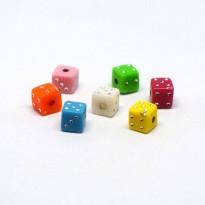 Χάντρες πολύχρωμα ζάρια
